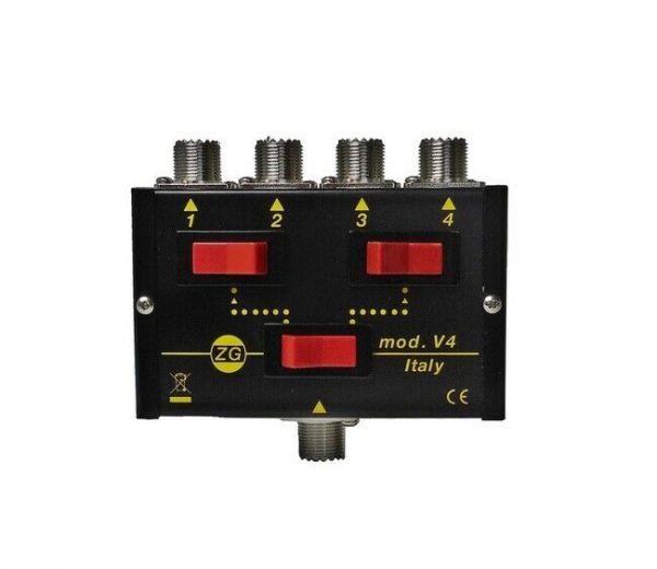 Zetagi V-4 4fach Antennenumschalter 500 Watt