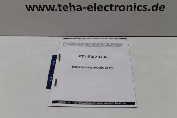 Yaesu FT 757 GX - Soka FT 757 GX Bedienungsanleitung Deutsch
