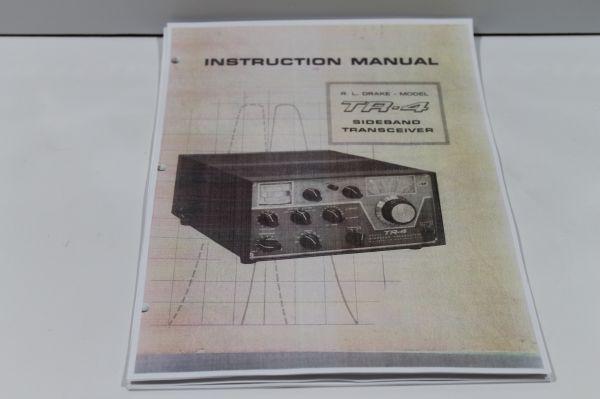 Drake TR 4 - Instruction Manual