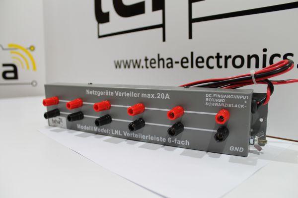 DC Netzgeräte Verteilerleiste 6 -fach 25 Ampere mit Erdung NEU