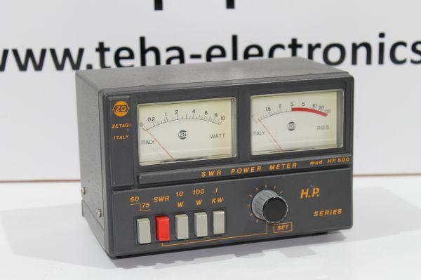 Zetagi HP-500 SWR / Wattmeter für Frequenzen von 3-200 MHz TOP