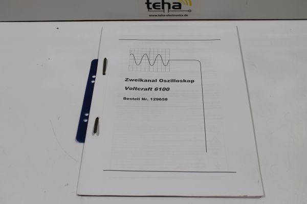 Bedienungsanleitung für VOLTCRAFT 6100 Oszilloskop in Deutsch
