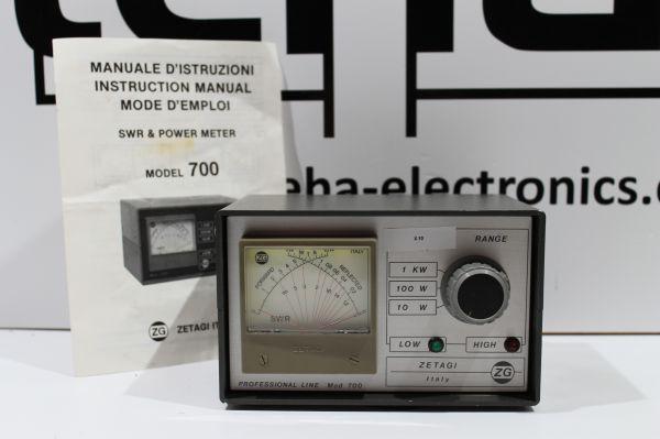 Zetagi Mod 700 SWR - Powermeter 1 KW getestet TOP