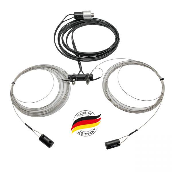 BIDATONG G5RV 80m - 10m Multiband-Dipol / 300 Ohm -32 Meter