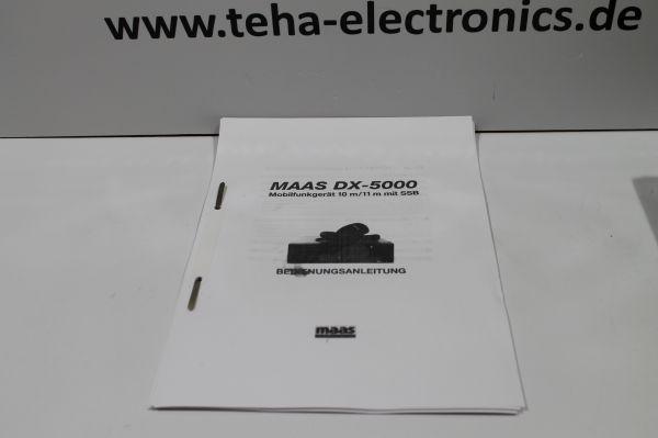 Maas DX 5000 Bedienungsanleitung in Deutsch