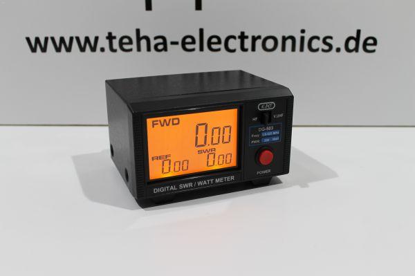 KPO DG-503 SWR- & Power-Meter mit Digitalanzeige 1.6 - 525 MHz HF VHF UHF 200W