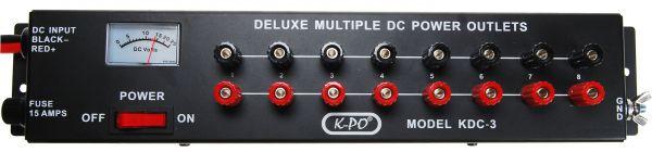 K-PO KDC-3 DC-Stromverteilerleiste DC mit 8 Anschlüssen 15 Amp.