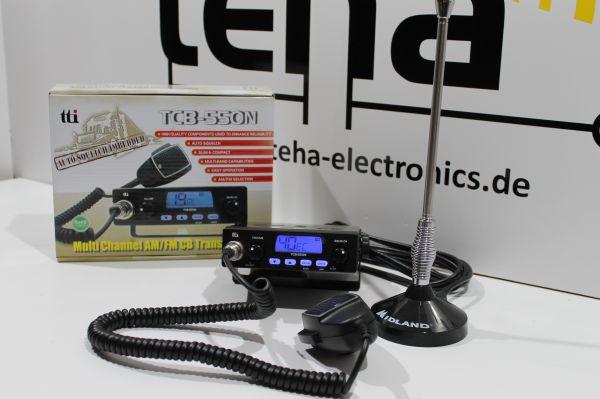 Funkset komplett CB Funkgerät TTI TCB -550N mit Magnetantenne