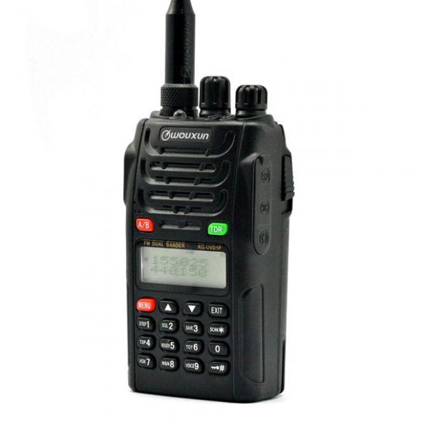 WOUXUN KG-UVD1P UHF / VHF Handfunkgerät incl. 1700 M.A. Akku